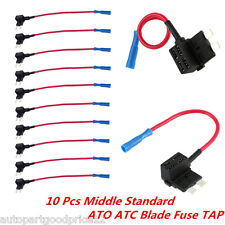 10x Auto Car ATO ATC Blade Fuse TAP Medium Middle Standard Dual Circuit Adapter