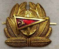 Soviet Merchant Marine Fleet Officer Cockade Hat DI Insignia USSR Russian MINT!
