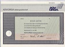 BRD Historisches Wertpapier Aktie ADV/ ORGA AG 50 DM Entwertet