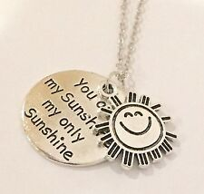 You Are My Sunshine my only sunshine silver necklace fashion jewelry from USA