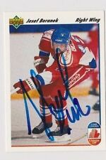 91/92 Upper Deck Josef Beranek Team Czechoslovakia Autographed Hockey Card