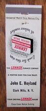 CLARK MILLS, NEW YORK: JOHN HOYLAND LENNOX FURNACE DEALER -K