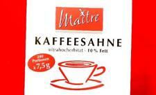 (3,88EUR/1kg) MAITRE KAFFEE-SAHNE 10% FETT KAFFEEMILCH 240 X 7,5G PORTIONEN KAFF
