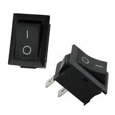 5pcs 250V 3A Mini Boat Rocker Switch SPST ON-OFF 2-Pin Black Plastic Button CA
