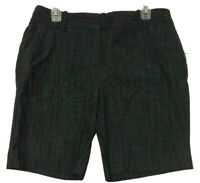 Attention Womens Black Cotton Blend Slim Fit Low Rise Shorts Size 10 New