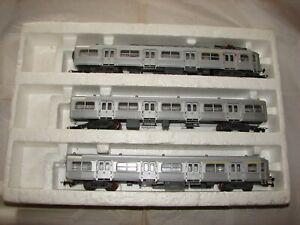 RAME BUDD 3 ELEMENTS JOUEF HO 761E  EN BOITE TRAIN ELECTRIQUE