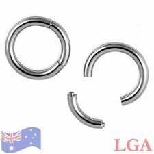 1 x 12g 12mm Steel 316L Seamless Segment Ring Septum Captive Ear Nose Lip Ring A