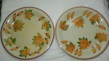 "Set of 2 Tabletops Gallery ""Autumn"" Fall Leaves Design  Dinner Plates"