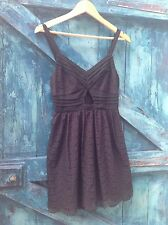 womens dress size 8 black lace keyhole midriff summer party Miss Selfridge £45
