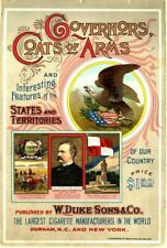Governors, Coats of Arms CIGARETTES  LARGE METAL TIN SIGN POSTER REPRODUCTION