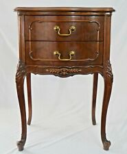 "Vintage French Provincial Style 2-Drawer Carved End or Bedside TABLE. 29""H x19""W"