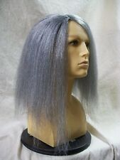 Creepy Vampire Wig Mixed Gray Frizzy Parted Uneven Zombie Hag Witch Crypt Keeper