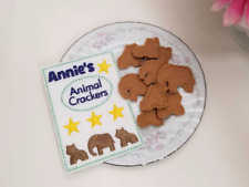 Felt pretend play food - ANIMAL CRACKERS WITH POUCH - embroidery - handmade