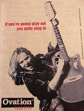 Melissa Etheridge, Ovation Guitars, Full Page Promotional Print Ad