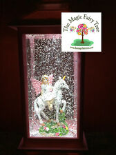 Pink LED lantern glitter unicorn fairy water ball snow globe light night lamp