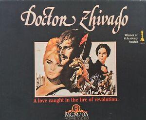 Doctor Zhivago VHS Box Set Part 1 & 2 Video Tapes Vintage Rare Collectible VGC