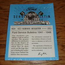 1941 - 1948 Ford Service Bulletin Manual 41 42 46 47 48