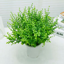 Green Artificial Large Leaves Green Plant 7Branches Eucalyptus Flowers Home Desk