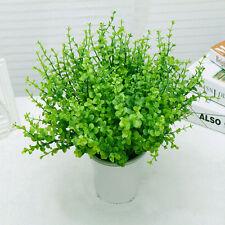 Eucalyptus Plant Flowers Home Desk Decor New 7-Branches Artifical Plastic Green