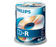 Philips CD-R 52x 700 MB 80 min - 100 Confezione spindle