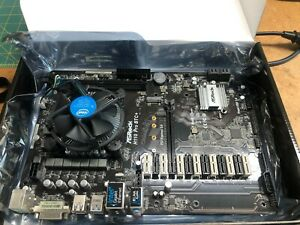 ASROCK BTC+ H110 Pro Mining Motherboard WITH CPU! Intel G3900