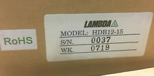 TDK Lambda  HDB-12-15 Switching Power Supplies 40W 12V 15V 1A, NEW
