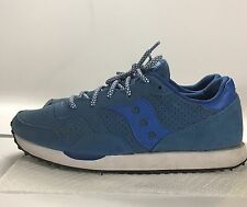 SAUCONY DXN TRAINER Women's BLUE Suede Nylon Retro Sneakers Shoes Size 9.5