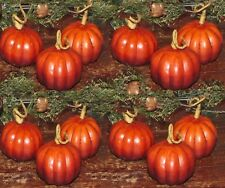 12 ARTIFICIAL PRIMITIVE THANKSGIVING HARVEST FARMHOUSE PUMPKIN BOWL FILLER SET