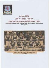 Aston Villa 1959-1960 rare original hand signed team group 6 x signatures