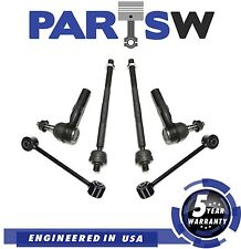 6 Pc New Suspension Kit for Commander Grand Cherokee Inner & Outer Tie Rod Ends
