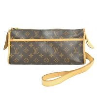 Louis Vuitton Popincourt M40008 Monogram Pochette Crossbody Bag Shoulder Brown