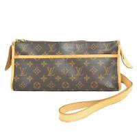 Louis Vuitton Popincourt M40008 Monogram Pochette Crossbody Bag Shoulder Brown