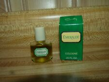 Emeraude by Coty .25 Cologne Splash Womens Vintage Bottle with box, 90% full
