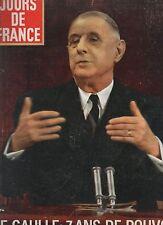 jours de france n° 580 de gaulle mireille darc grace kelly sacha distel 1965