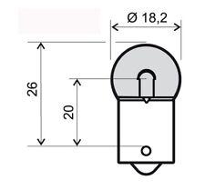lampadina 12v 10w ba15s g18 arancione RMS lampadine scooter