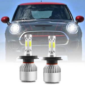 FOR Mini Cooper F55 F56 F57 2013-on H4 Headlight Kit LED Low Bulbs 6500K WHITE