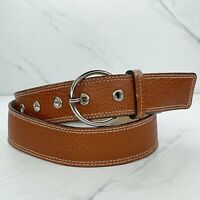 Ann Taylor Brown Genuine Pebble Leather Belt Size Small S 30 Made in Italy