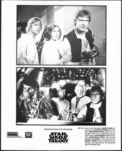 Star Wars Trilogy Original Photo Harrison Ford Carrie Fisher Alec Guinness