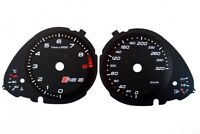 Audi A5 RS 5 Replacement dial - converted from MPH to Km/h BLACK Dial Conversion
