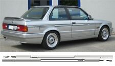 BMW e30 alpina estilo rayas finas en rayas laterales 318, 320, 323. 325, 330