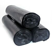 55 Gallon Thick Black Drum Liner Trash Garbage Bags 100 Ct LDPE - FREE PRIORITY