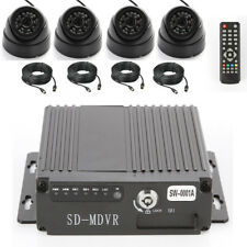 4 Channel Car Truck Bus Ir Mobile Dvr Sd Card Recorder+Cameras+Video Power Cable