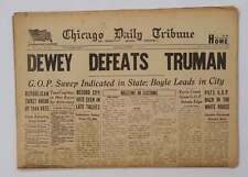 Dewey Defeats Truman Original Authentic & Complete Newspaper