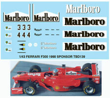 1/43 FERRARI F300 1998 SPONSOR MICHAEL SCHUMACHER DECALS TB DECAL TBD139