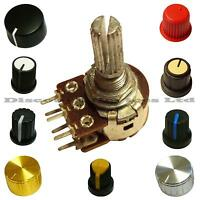 Dual Stereo500K ohm lin Linear Log Logarithmic Pot Potentiometer And Knob