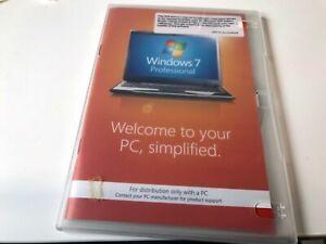 MICROSOFT Windows 7 Professional SP1 DVD 64-bit Retail with COA