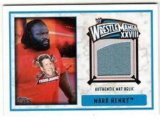 2012 TOPPS WWE WRESTLEMANIA XXVIII MARK HENRY AUTHENTIC MAT RELIC