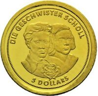 5 Dollars Nauru - Die Geschwister Scholl 2008 Gold PP