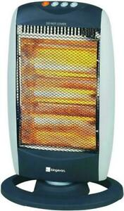 Portable Oscillating Halogen Electric Heater 1200 watt 3 Heat Settings