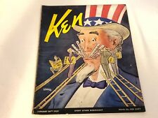 Vintage KEN Magazine JAN 26 1939 VOL 3 NO 2 WW2/Nazi/Early Basketball/Baseball